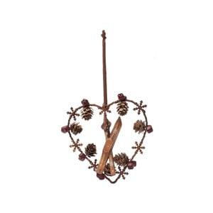 Závesná dekorácia Antic Line Heart Ornament