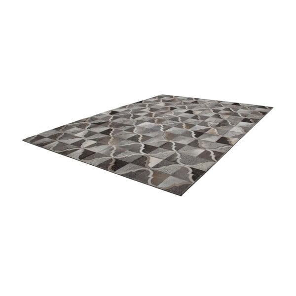 Kožený koberec Eclipse Grey, 120x170 cm