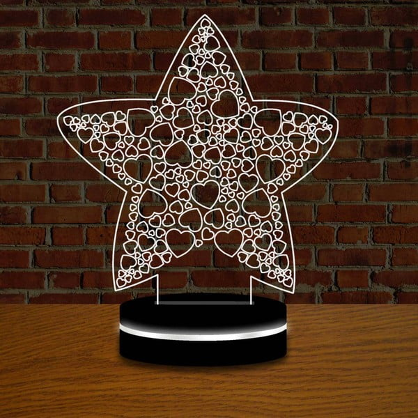 Lampa s 3D efektom Christmas no. 2