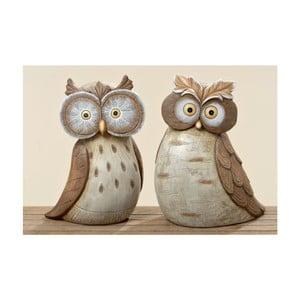 Sada 2 záhradných dekorácií Hermine Owl