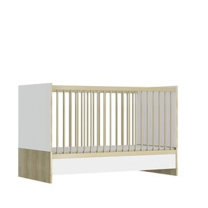 Biela detská postieľka FAKTUM Eloise Linea, 140 × 70 cm