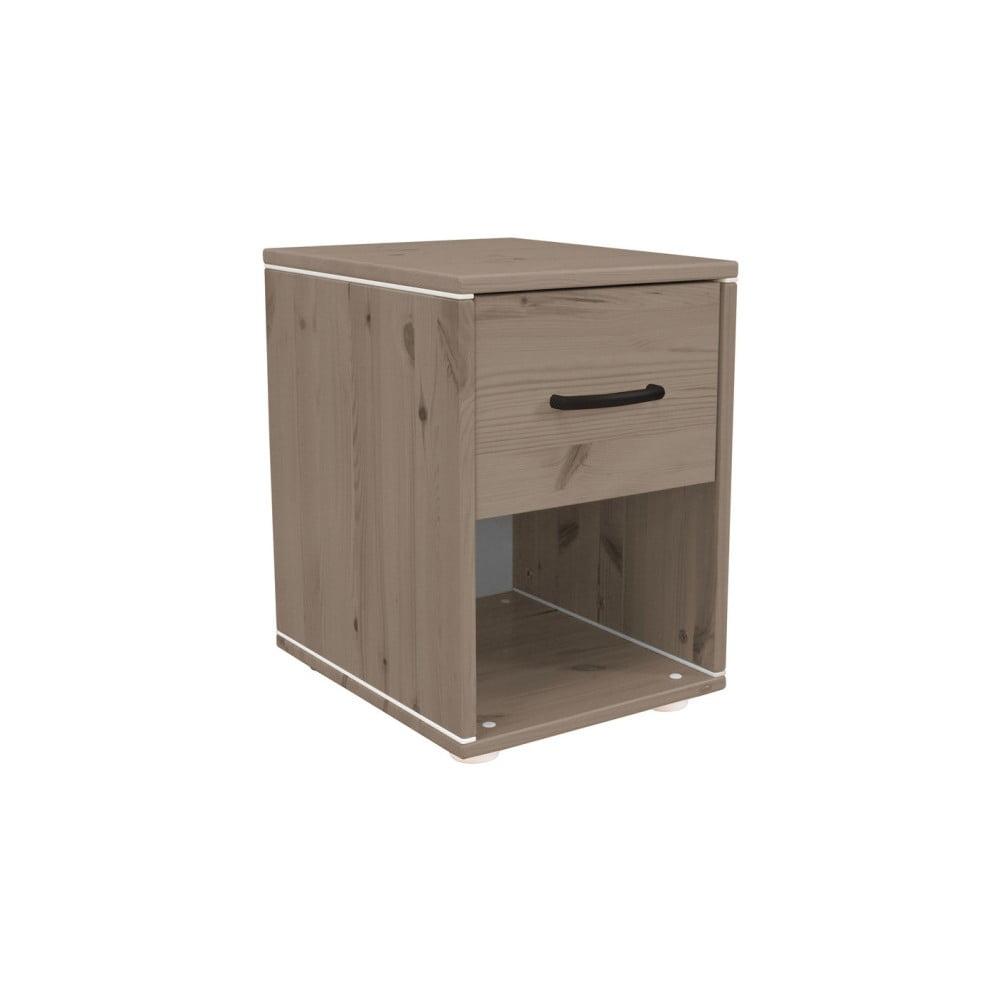 Hnedý detský nočný stolík z borovicového dreva Flexa Classic