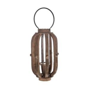 Drevený lampáš Brown, 30x49 cm