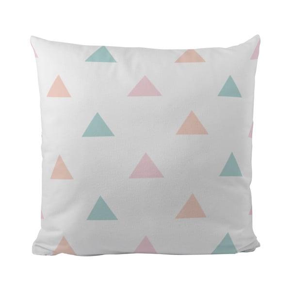 Vankúš Pastel Triangles, 50x50 cm