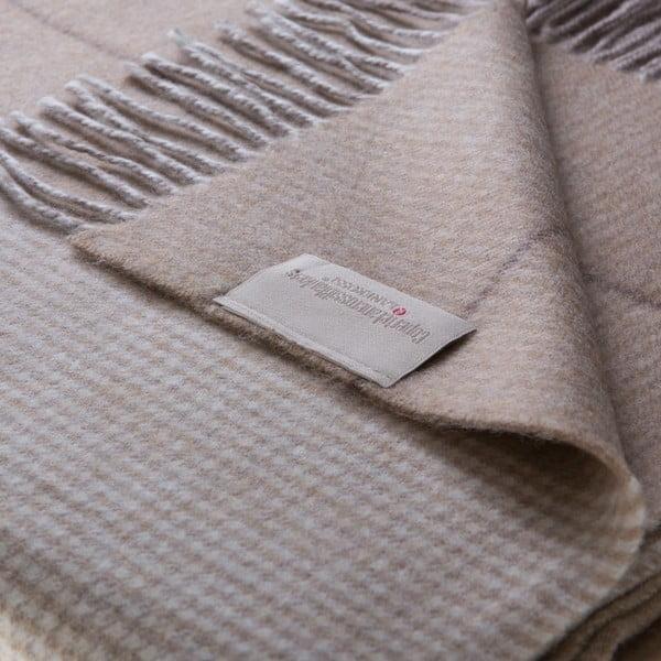 Vlnená prikrývka Murano 130x180 cm, hnedá