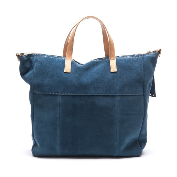 Kožená kabelka Ángela, modrá