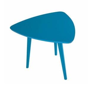 Modrý príručný stolík Durbas Style Trio