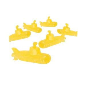 Sada 6 žltých kociek na ľad Kikkerland Submarine