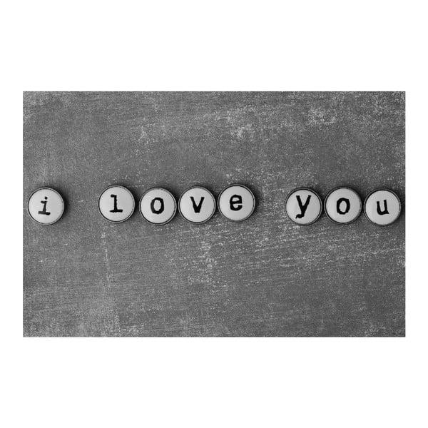 Obraz Black&White ILY, 45 x 70 cm