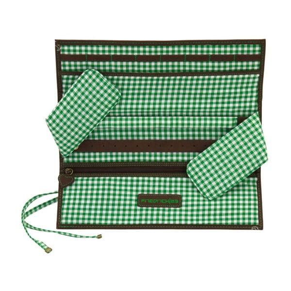 Šperkovnica Roll Bavaria Brown/Green, 27x9,5x3 cm