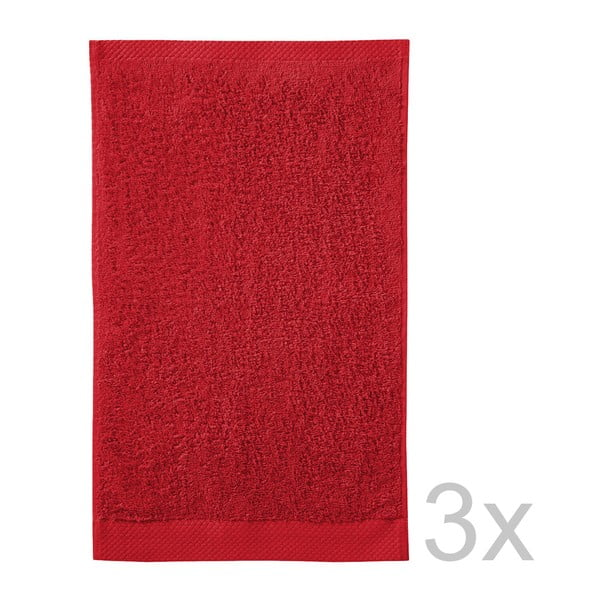 Set 3 uterákov Pure Red, 30x50cm