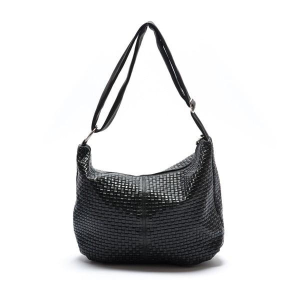 Kožená kabelka Mangotti 8036, čierna