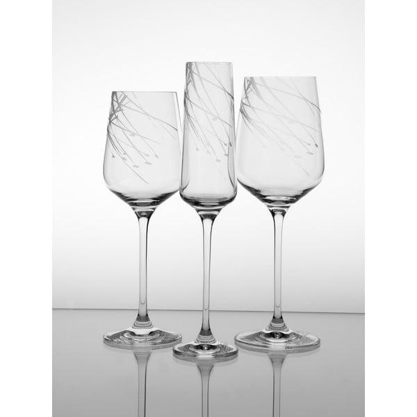 Ateliér Žampach, set 2 ks pohárov na biele víno Sitina