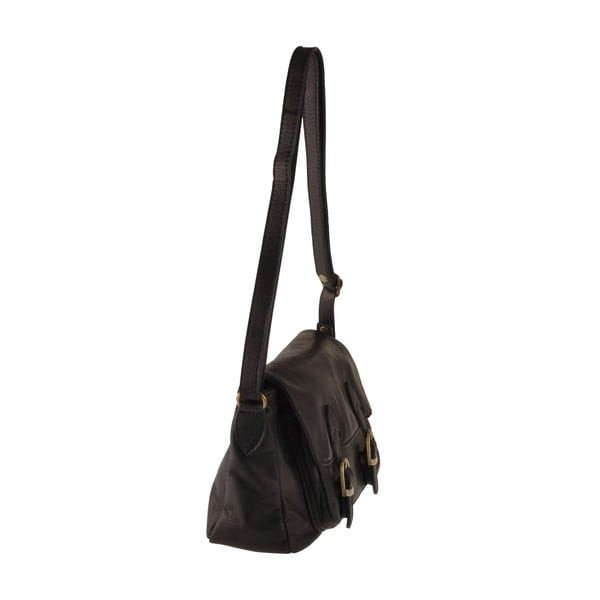 Čierna kožená kabelka Ore Diece Hawaii