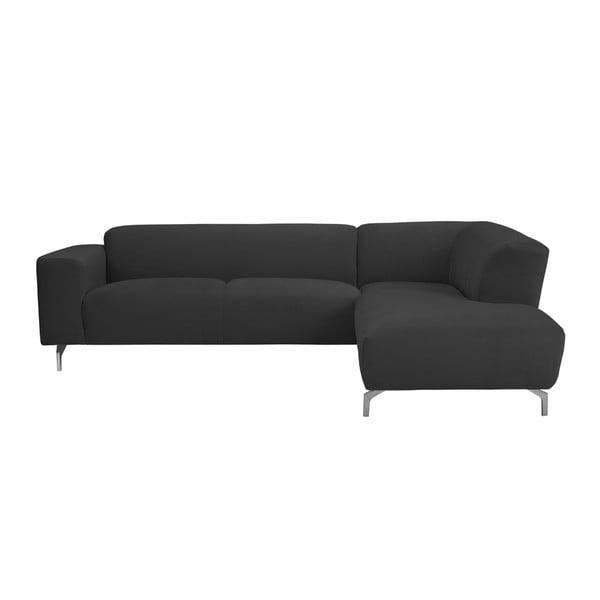 Tmavosivá rohová pohovka Windsor & Co Sofas Orion, pravý roh