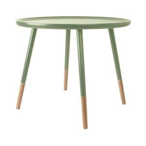 Zelený drevený príručný stolík Leitmotiv Graceful