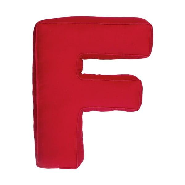 Látkový vankúš F, červený