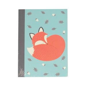 Linajkový zápisník A6 Rex London Rusty The Fox