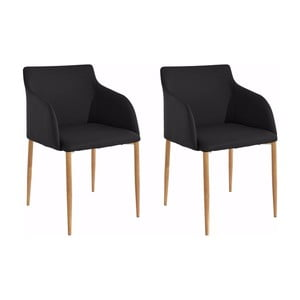 Sada 2 čierných stoličiek Støraa Nimbus