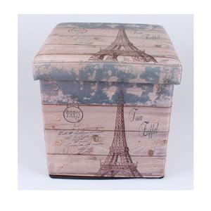 Taburetka na sedenie s úložným priestorom Eiffel