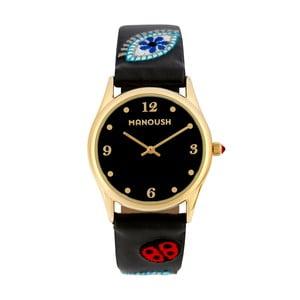Dámske hodinky čienrej farby Manoush Ladybird