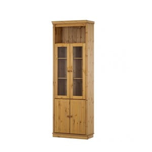 Prírodné dvojdverová vitrína z borovicového dreva Støraa Annabelle