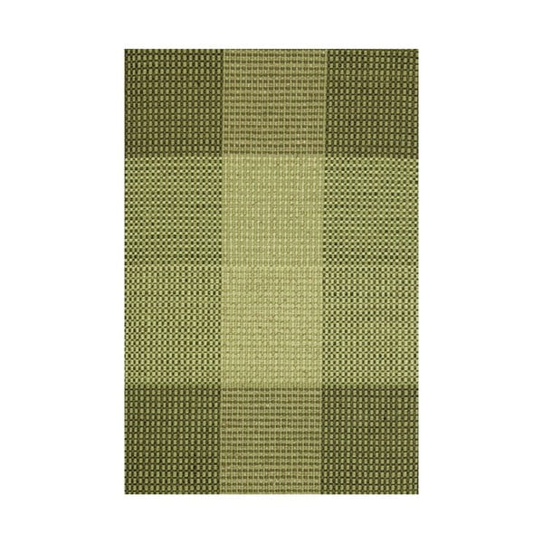 Zelený ručne tkaný vlnený koberec Linie Design Genova, 170×240cm