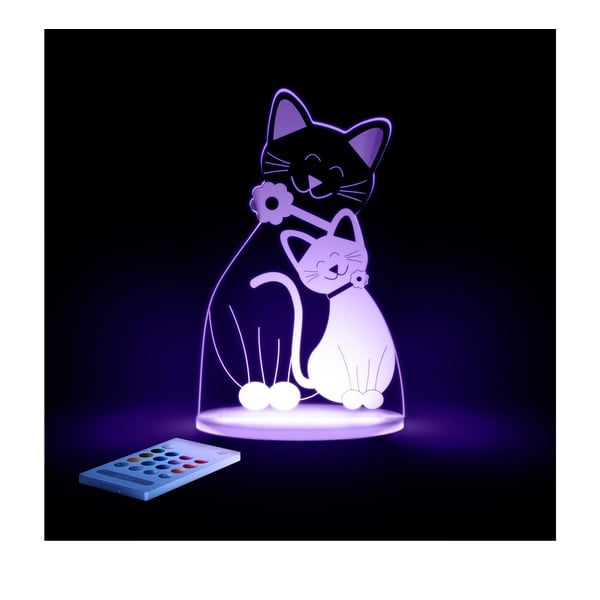 Detské LED nočné svetielko Aloka Cat