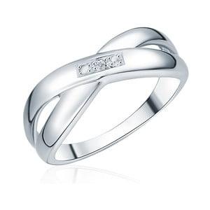 Strieborný prsteň s pravým diamantom Tess Diamonds Laura, veľ. 58