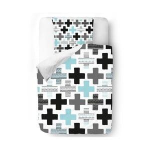 Obliečky Blue Crosses, 140x200 cm