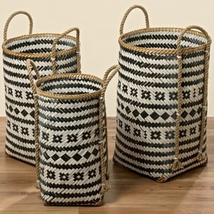 Sada 3 bambusových košov Boltze Zulo