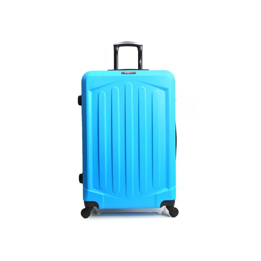 Tyrkysovomodrý cestovný kufor na kolieskach Bluestar Pulo, 95 l