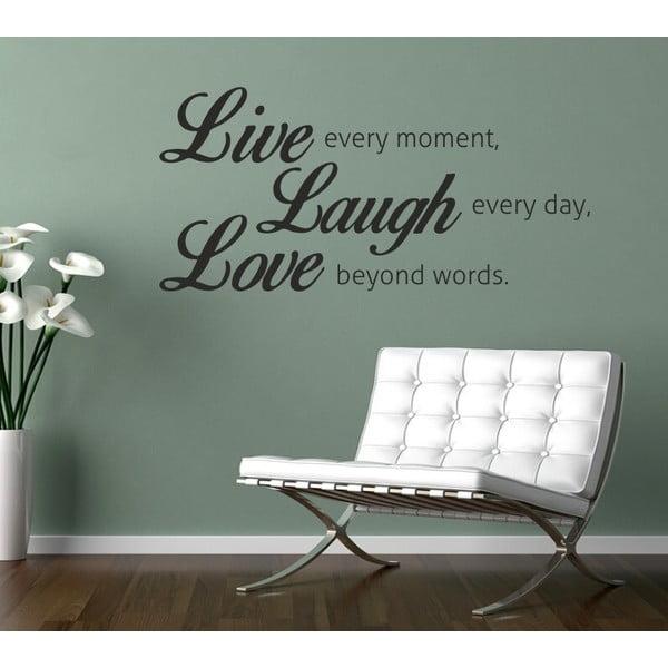 Samolepka na stenu Live Laugh Love