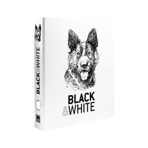 Zakladač na krúžky Makenotes Hound Black & White
