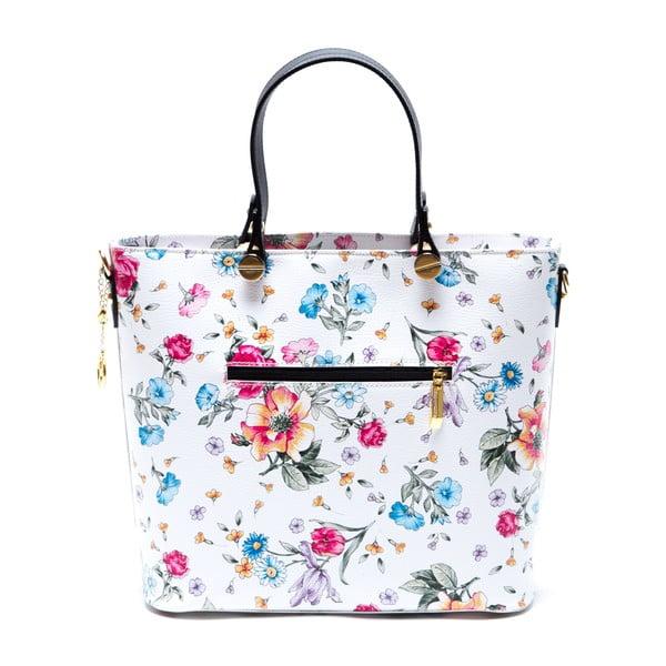 Kožená kabelka Carla Ferreri 900, kvetovaná