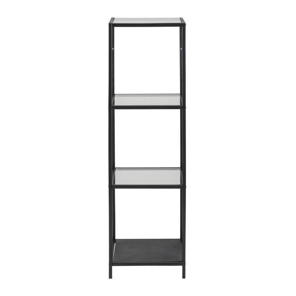 Čierny trojposchodový regál Actona Seaford