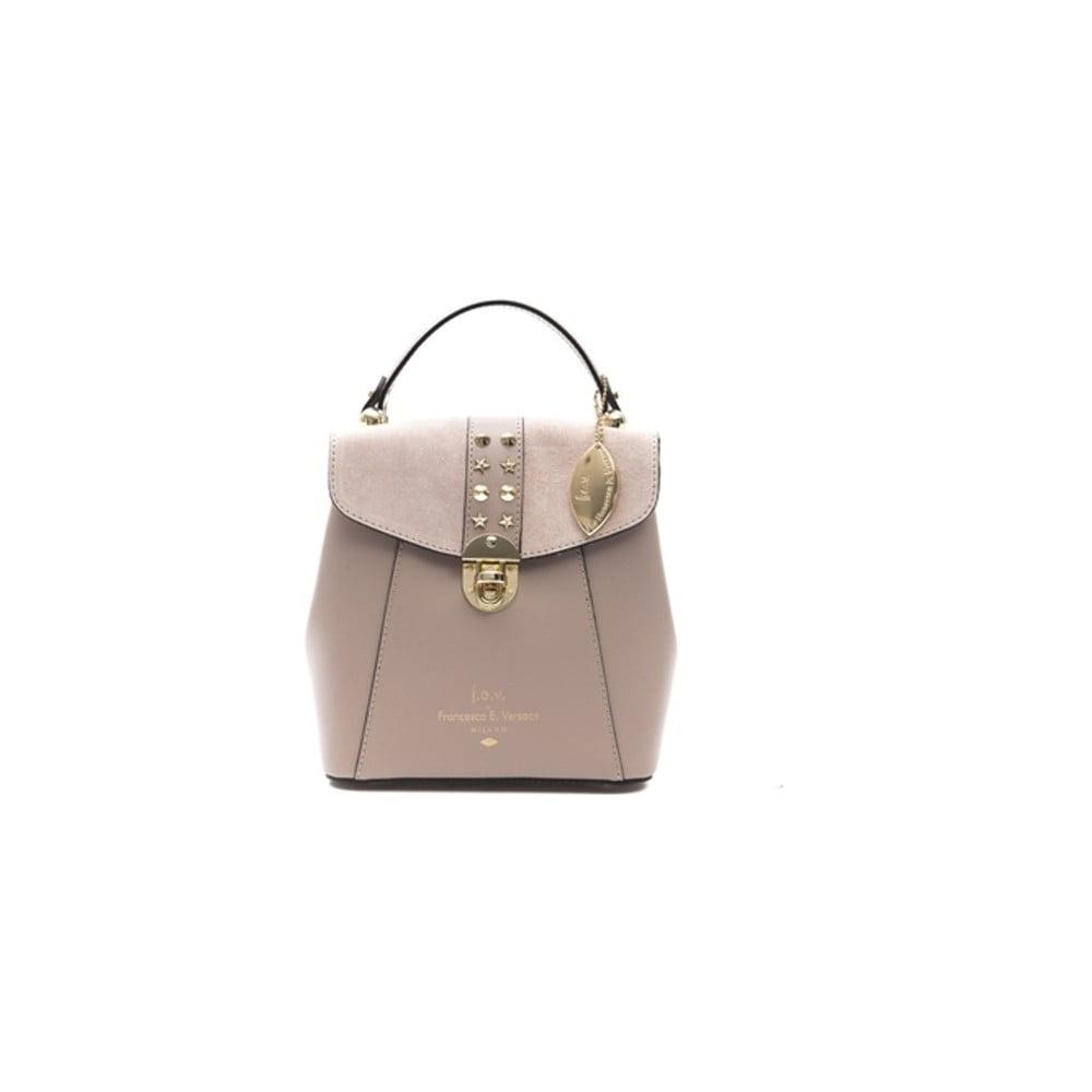 Béžovoružový kožený dámsky batoh f.e.v. by Francesca E. Versace Rismo 7fe1dba0ae
