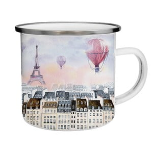 Smaltovaný hrnček s Eiffelovou vežou TinMan, 200 ml