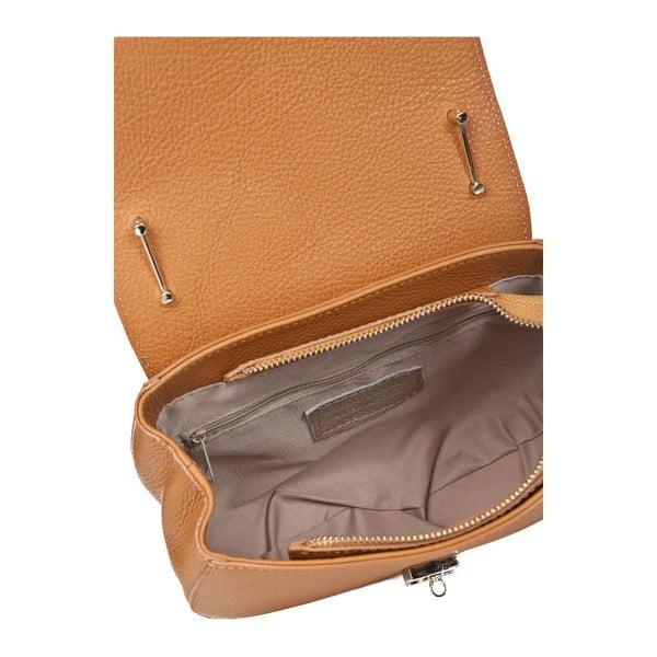 Kožená kabelka Locker Cognac