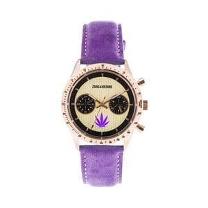 Dámske hodinky s fialovým koženým remienkom Zadig & Voltaire Teddy