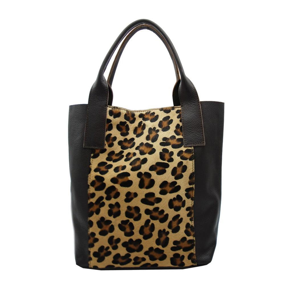 Kabelka z pravej kože s leopardím vzorom Andrea Cardone Cavallino L ... 5a2a17b6d73