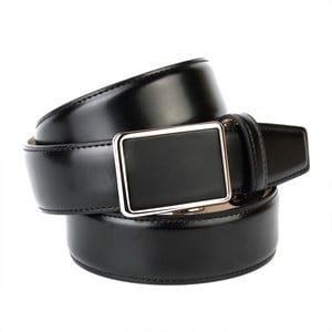 Pánský kožený pásek 17010S Black, 90 cm