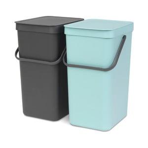 Sada 2 odpadkových košov Brabantia, 16 l