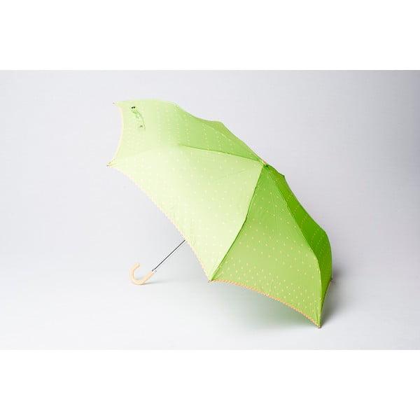 Skladací dáždnik Dots, zelený