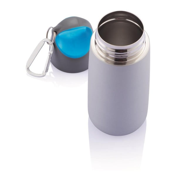 Modrá fľaša s karabínou XDDesign Mini Bopp