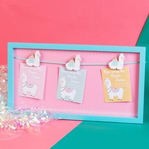 Dekoratívny rám na pripínanie fotografií a odkazov Just 4 Kids Llama