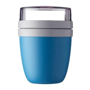 Modrý desiatový box na jogurt Rosti Mepal Ellipse