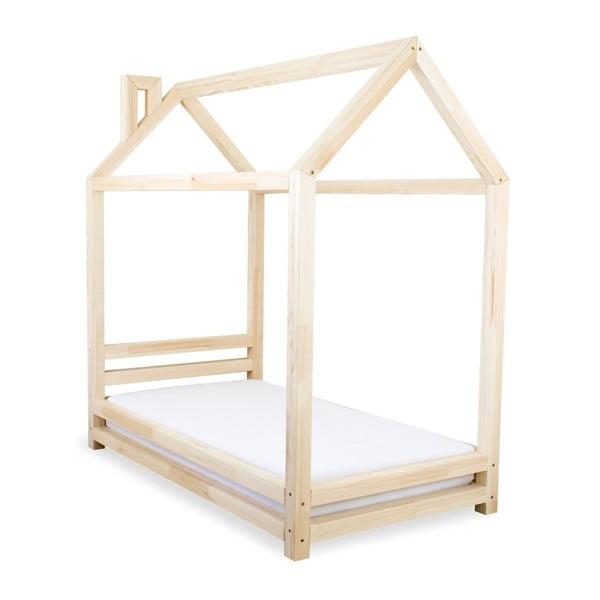 Detská posteľ z prírodného borovicového dreva Benlemi Happy, 120×200cm