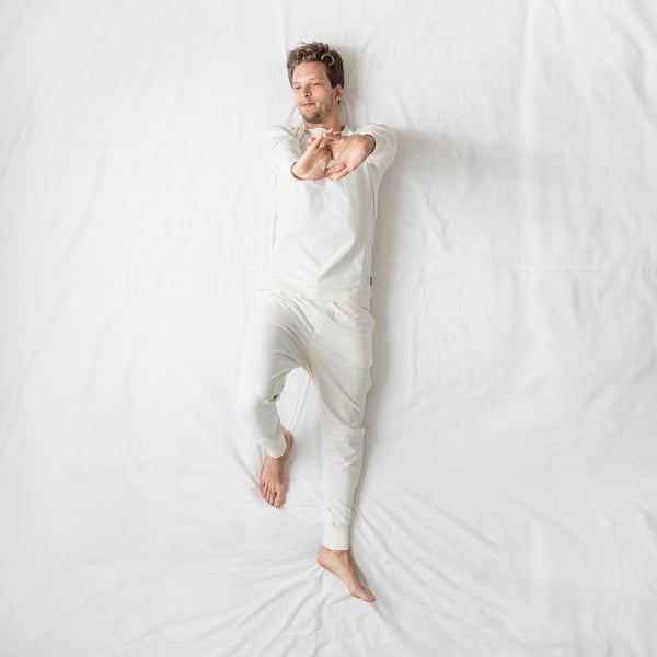 Pánske biele nohavice Snurk Uni, S