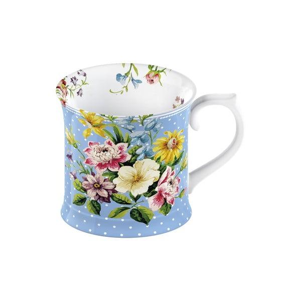 Modrý porcelánový hrnček Creative Tops English Garden, 350 ml